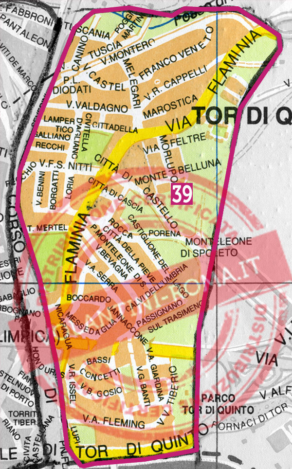 Roma Nord Ovest: Corso Francia - Fleming (T39)