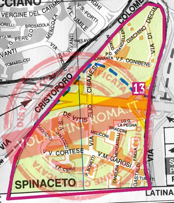 Roma Sud Ovest: Spinaceto (T13bis)